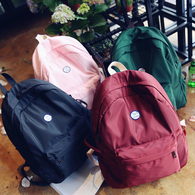 กระเป๋าเป้สะพายหลังสารพัดประโยชน์ สวย ทน เท่ห์ คุณภาพชั้นนำเป็นที่ยอมรับระดับสากล basic mini bag Backpack Japanese and Korean version of the tide college wind student travel backpack small fresh