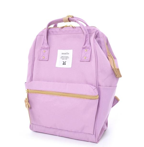 กระเป๋าเป้ Anello canvas lavender (Mini)