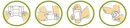 detosification foot pad, foot patch, แผ่นติดเท้าดีท็อกซ์ ตรา มามาเอะ (mamae)