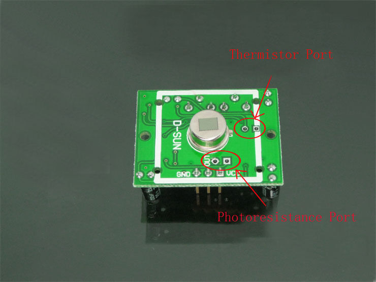 Thermistor Port Photoresistance Port