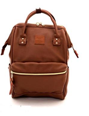 กระเป๋าเป้ Anello Leather Brown (Standard) หนัง PU กันน้ำ