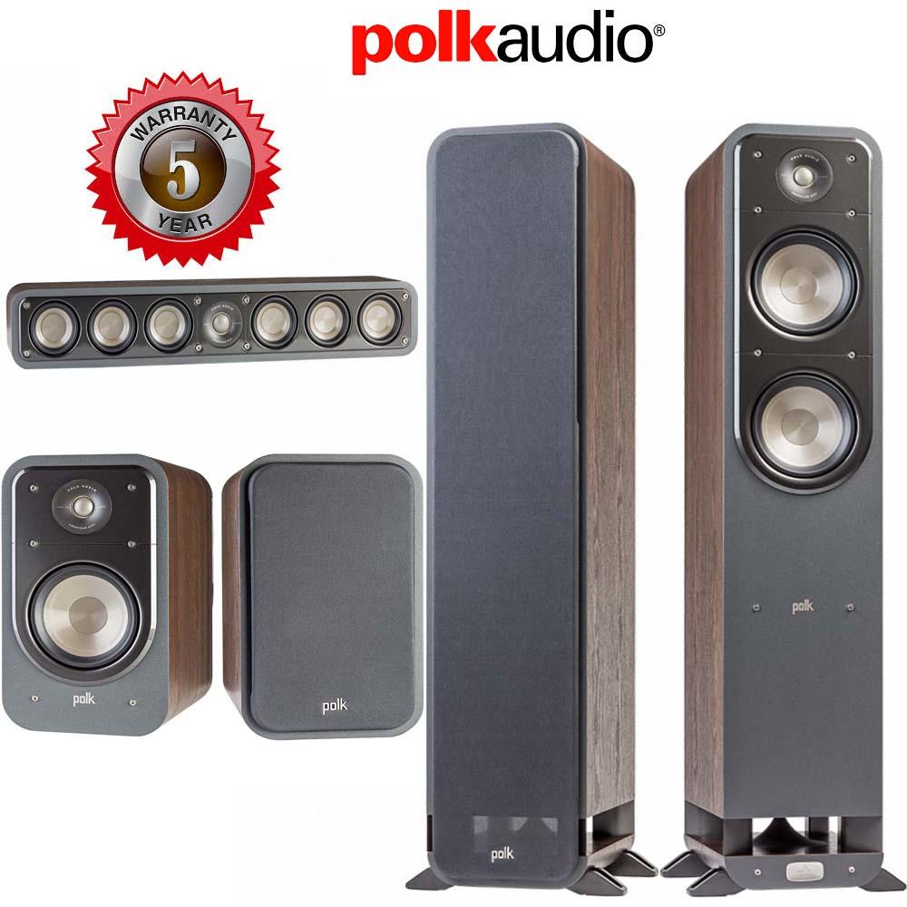 Polk Audio Signature S55 + S20 + S35 Walnut