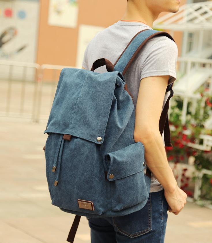 กระเป๋า MOYYI CANVAS คุณภาพดี ( สีน้ำเงิน )