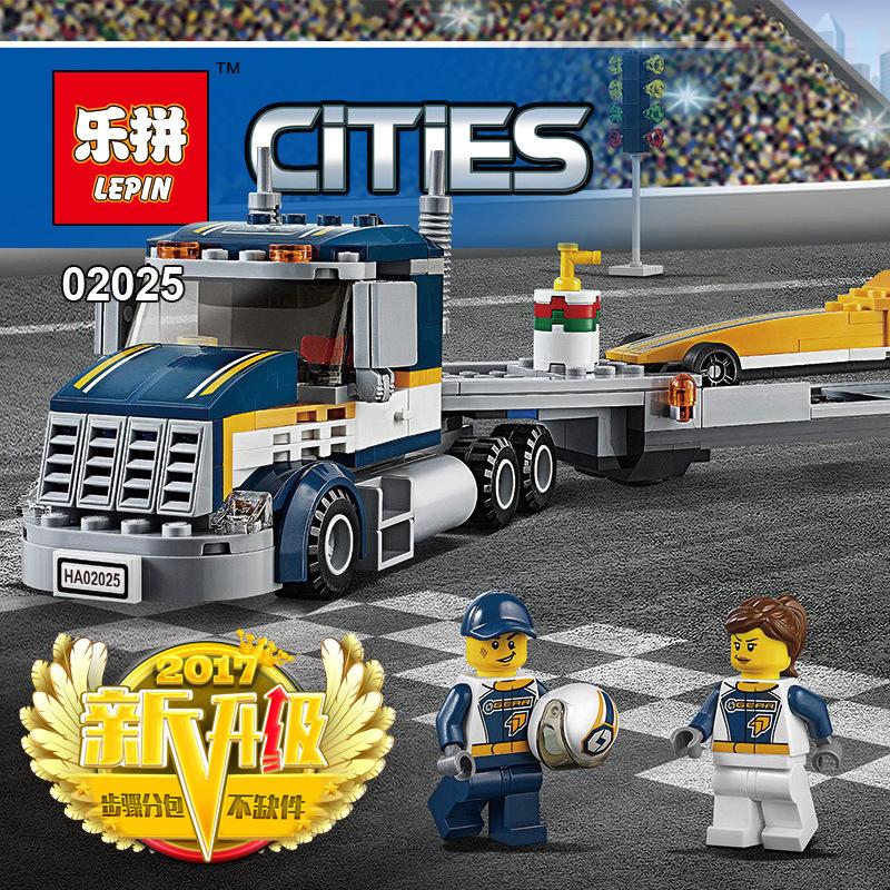 เลโก้จีน LEPIN.02025 ชุด Cities Dragster Transporter