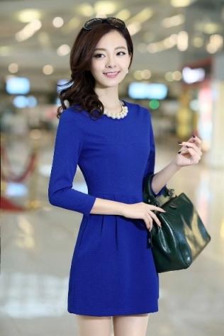 [พรีออเดอร์] ชุดเดรสผู้หญิงแฟชั่นเกาหลีใหม่ แขนยาว แบบเก๋ เท่ห์ - [Preorder] New Korean Fashion Slim Long-sleeved Dress