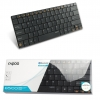 Rapoo Bluetooth 3.0 Keyboard 2.4GHz. E6100 ดำ
