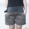 กางเกงคนท้อง กางเกงคลุมท้อง ปรับระดับ ขาสั้น สีเทา โอวัลติน