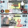 ธนบัตรประเทศ แซมเบีย ชนิดราคา 2 Kwacha (ควาช่า) รุ่นปี พ.ศ.2555 (ค.ศ.2012)