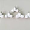 5x หัวพ่นหมอกสแตนเลส code1 พร้อมข้อต่อสามทางสีขาว