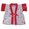 เสื้อจิมเบอิ สีเทา-แดง ลายแมงปอกับปลาทอง S70