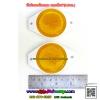 ทับทิมสะท้อนแสง กลม5.5ซม.(2นิ้ว) สีเหลือง (ขายเป็นคู่1ห่อ มี2อัน)