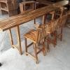 ชุดโต๊ะบาร์ 220 ไม้อะคาเซีย 3 ที่นั่ง