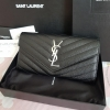 NEW YSL PORTEFEUILLE CAVIER WALLET BLACK