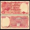 ธนบัตรประเทศ อินโดนีเซีย ชนิดราคา 100 RUPIAH (รูเปีย) รุ่นปี พ.ศ. 2527 หรือ ค.ศ. 1984
