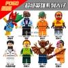 เลโก้จีน POGO.140-147 ชุด Super Heroes (สินค้ามือ 1 ไม่มีกล่อง)