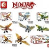เลโก้จีน Sembo Block S8000-s8003 ชุด Ninja Go