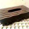 กล่องทิชชูไม้มะม่วง สลักลาย