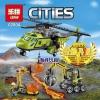 เลโก้จีน LEPIN.02004 ชุด City Volcano Supply Helicopter