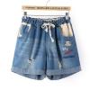 [พรีออเดอร์] กางเกงยีนส์ ขาสั้น เท่ห์ ๆ สำหรับผู้หญิงไซส์ใหญ่พิเศษ - [Preorder] Jeans for Large Size Women
