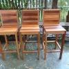 เก้าอี้บาร์ไม้สีสัน