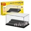 กล่องโชว์ minifigure สีดำ LELE 79150 ชุด mini display case สีดำ