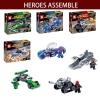 เลโก้จีน SY209 A-D ชุด Heroes Assemble ยานพาหนะ