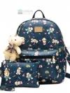 BEIBAOBAO Back pack ของแท้ (กระเป๋าเป้ สะพายหลัง) BA051 สีน้ำเงิน แถมกระเป๋าเล็กพร้อมหมี พร้อมส่ง