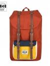 8848 Back pack(กระเป๋าเป้ สะพายหลัง) BA027 สี ส้ม-เหลือง พร้อมส่ง