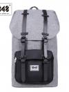 8848 Back pack(กระเป๋าเป้ สะพายหลัง) BA027 สี เทา-ดำ พร้อมส่ง