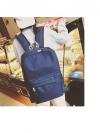 Back pack(กระเป๋าเป้ สะพายหลัง) BA080 สีน้ำเงิน พร้อมส่ง