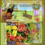 ธนบัตร ราโรตองก้า South Pacific States, $20, Rarotonga (Cook Islands) 2015, Polymer, UNC