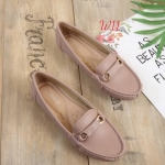 รองเท้าคัทชู ทรง loafer ส้นแบน แต่งอะไหล่สวยเรียบเก๋ หนังนิ่ม พื้นนิ่ม ทรงสวย ใส่สบาย แมทสวยได้ทุกชุด (K5924)