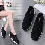 รองเท้าผ้าใบแฟชั่น แต่งอะไหล่ CC หรูสไตล์ชาแนล สวยไฮโซ แบบไร้เชือกใส่ง่าย วัสดุอย่างดี ใส่เที่ยว ออกกำลังกาย ใส่สบาย แมทสวยได้ทุกชุด