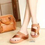 รองเท้าแตะ เพื่อสุขภาพ สไตล์ฟิตฟลอบ แบบสวมนิ้วโป้ง สายคาดหน้าเรียบ สวยเก๋ พื้นซอฟคอมฟอตนุ่ม รับน้ำหนักดี ใส่เดินสบาย ได้ทุกวัน สูง 2 นิ้ว สีเทา น้ำเงิน น้ำตาล แดง (L1964)