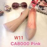 รองเท้าคัทชู ส้นเตารีด แต่งลายตารางสวยเรียบหรู ทรงสวย หนังนิ่ม ส้นสูงประมาณ 2 นิ้ว ใส่สบาย แมทสวยได้ทุกชุด (CA8000)