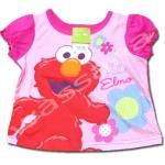 เสื้อ สีบานเย็น ลาย Sesame Street 18M