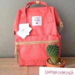 กระเป๋าเป้ Anello Lotte coral pink (Mini)