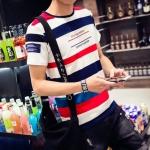 พรีออเดอร์ เสื้อยืด M - 6 XL อกใหญ่สุด 50.39 นิ้ว แฟชั่นเกาหลีสำหรับผู้ชายไซส์ใหญ่ แขนสั้น เก๋ เท่ห์ - Preorder Large Size Men Korean Hitz Short-sleeved T-Shirt