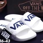 รองเท้าแตะแฟชั่น แบบสวม แต่งลายสไตล์ VANs สวยเก๋ วัสดุอย่างดี พื้นยางนิ่มยืดหยุ่น ใส่สบาย แมทสวยได้ทุกชุด