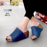 รองเท้าแฟชั่น ส้นเตารีด หนังสักหราด แบบสวม หน้าเต็มเรียบเก๋ เก็บหน้าเท้า หนังนิ่ม พื้นนิ่ม งานสวย ส้นสูง 3 นิ้ว ใส่สบาย แมทสวยได้ทุกชุด (960-15)