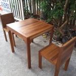 ชุดโต๊ะแก่นจันทร์ 2 ที่นั่ง
