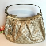 (SOLDOUT)Gucci Hobo sake leather tote (like new)