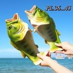 รองเท้าแตะแฟชั่น แบบสวม รูปปลาสวยเก๋อินเทรนด์ ไม่เหมือนใคร ซิลิโคนนิ่ม ใส่สบาย แมทสวยได้ทุกชุด