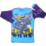 เสื้อ สีฟ้า-ดำ ลาย Batman The Dark Knight 10T