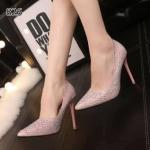 รองเท้าคัทชู ส้นสูง สุดหรู New Women's Glitter High Heel เติมเต็มลุคสวย ให้เข้าสู่โหมดพร้อมปาร์ตี้กับ ส้นสูงหัวแหลม ดีไซน์สวยเริ่ด หรูหรา ประดับเพชร เม็ดเล็ก หนังกลิตเตอร์สีเงินอร่าม โดดเด่นยามต้องแสงไฟ ดูหรูหราและเลอค่า สุดๆ สีเงิน ทอง ชมพู ดำ ส้นสู