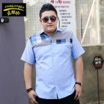 พรีออเดอร์ เสื้อเชิ้ต แขนสั้น 3XL - 8XL อกใหญ่สุด 59.84 นิ้ว แฟชั่นเกาหลีสำหรับผู้ชายไซส์ใหญ่ แขนสั้น เก๋ เท่ห์ - Preorder Large Size Men Korean Hitz Short-sleeved T-Shirt