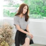 [พรีออเดอร์] เสื้้อแฟชั่นเกาหลีใหม่ อก 51.91 นิ้ว แขนสั้น สำหรับผู้หญิงไซส์ใหญ่ - [Preorder] New Korean Fashion Shirt Short-Sleeved for Large Size Woman