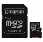 Raspberry Pi Kingston Micro SD Class 10 - 64GB