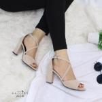 รองเท้าแฟชั่น ส้นสูง แบบสวม รัดส้น สายไขว้หน้าสวยเก๋ ทรงสวย ส้นสูงประมาณ 3.5 นิ้ว ใส่สบาย แมทสวยได้ทุกชุด (G12-70)