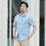 พรีออเดอร์ เสื้อเชิ้ต แขนสั้น M - 6XL อกใหญ่สุด 54.33 นิ้ว แฟชั่นเกาหลีสำหรับผู้ชายไซส์ใหญ่ แขนสั้น เก๋ เท่ห์ - Preorder Large Size Men Korean Hitz Short-sleeved T-Shirt